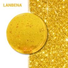 LANBENA 24K Gold Handgemachte Seife Anti-Aging Seetang Tiefenreinigung Feuchtigkeitsspendende Whitening Anti-Falten-Schönheit Gesichtspflege