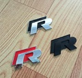 1 pc 3D Chrome R line Badge logo Emblem Rline Car stickers Racing logo VW Golf 5 6 7 Touareg Tiguan Passat B6 B7 Jetta Sharan