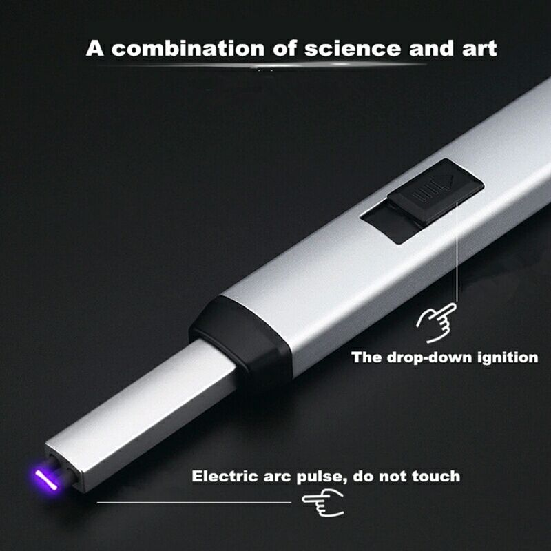 New Arc Windproof Plasma Electronic USB Recharge Kitchen bbq Cigarette Smoking Electric Lighter two type original box