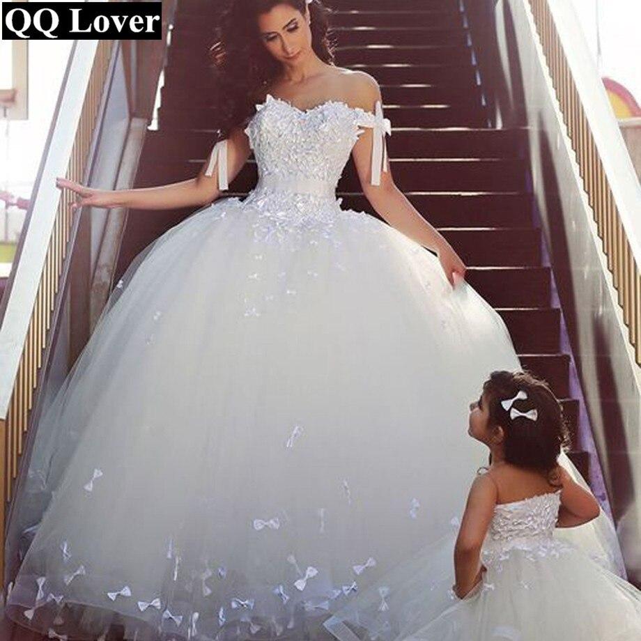 QQ Lover 2017 Cap Sleeve Muslim Bling Luxury Princess