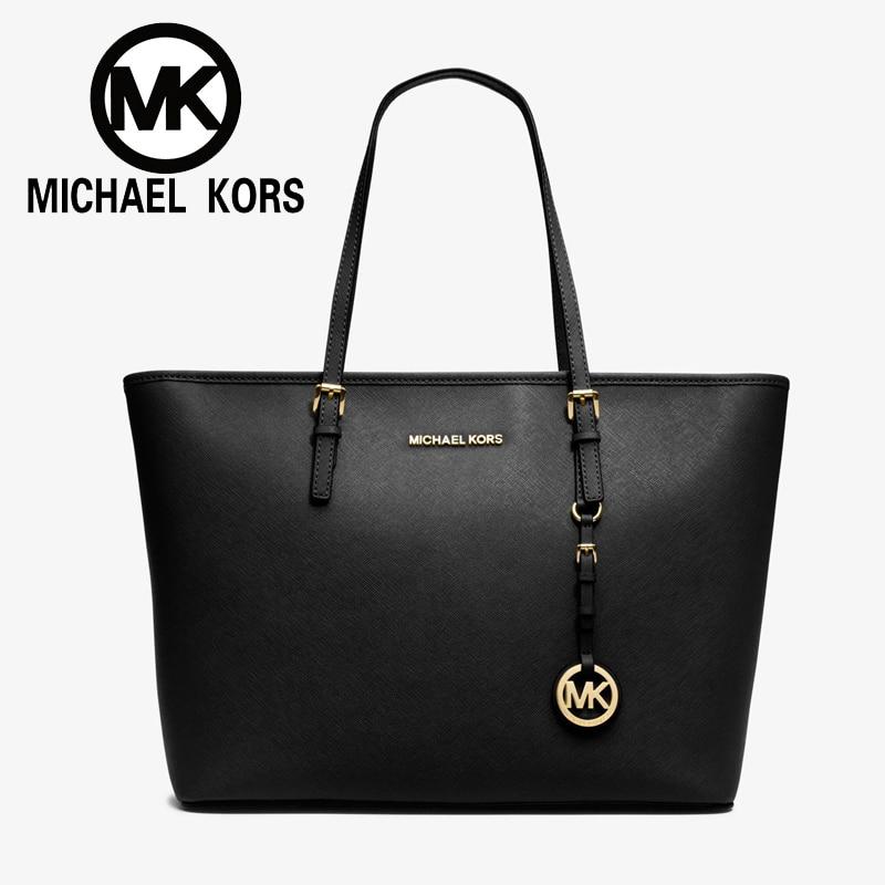 Michael kors Online MK Luxury Women hand bag Sexy Women shoulder Bag Messenger Bags Jet Set Travel Saffiano Leather Top-Zip Tote