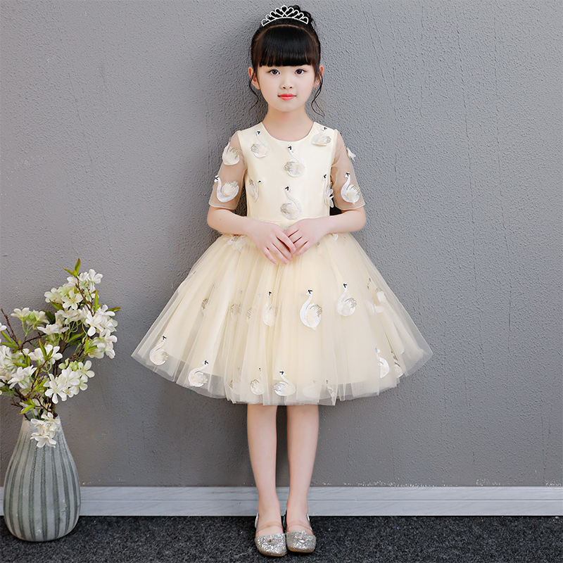 2018 autumn teenage girl dress girls party wear beauty and the beast prom gown children kid halloween costume girl clothes year цена