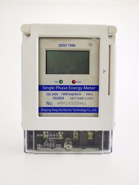 Compteur d'énergie électrique prépayé monophasé d'affichage à cristaux liquides de carte d'ic