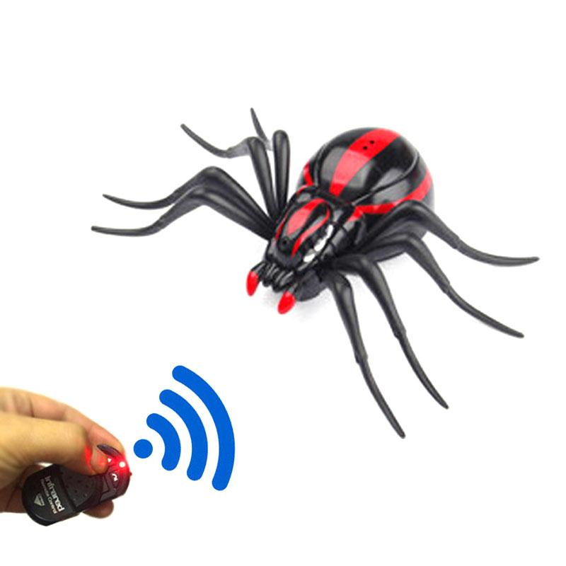 Trick Electronic Pet RC Simulation False Spider Robotic Insect Prank Toys Spider Infrared Remote Control Prank Toys For Children