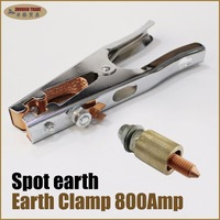 800Amp earth ground clamp copper clip arc tig mig stick spot welding tips accessories cable capacitor discharge CD stud welder