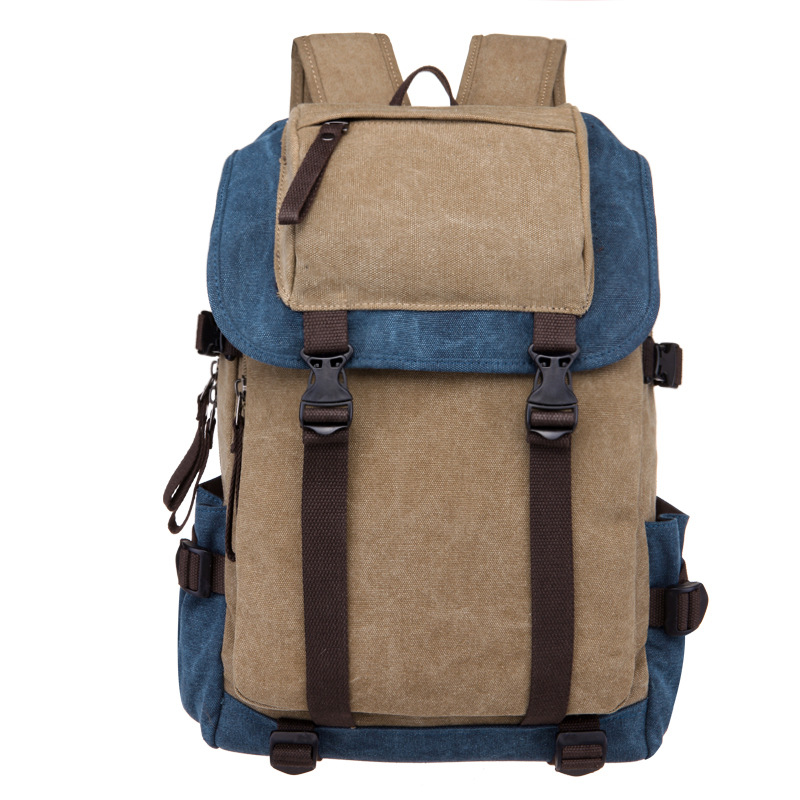Korean Backpack Men Bagpack Male Canvas College Student School Bags Patchwork Casual Rucksacks Laptop Backpacks Women Mochila набор дрель шуруповерт hammer flex drl400a 37077 сверел hammerflex 202 908
