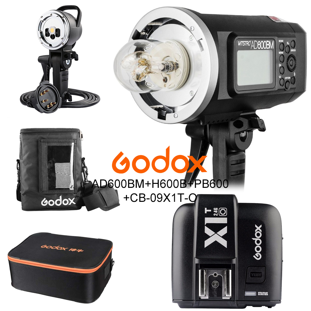 <font><b>Godox</b></font> <font><b>AD600BM</b></font> 600W HSS 1/8000 2.4G Wireless Outdoor flash+X1T-O+AD-600B+PB-600+CB-09 Kit For Olympus Panasonic image
