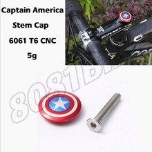 Bisiklet gövdesi üst kapağı vidalı kulaklık kapağı kaptan amerika 28.6mm 1 1/8