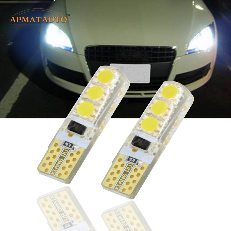 Pár T10 W5W T16 12 V-os LED-es távolsági fényjelző lámpa izzó - Autó világítás