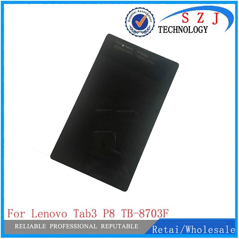 Nouveau 8 pouce Pour Lenovo Tab 3 8 Plus Tab3 P8 TB-8703F TB-8703N LCD Affichage à L'écran Tactile Digitizer Assemblée Remplacement pièces