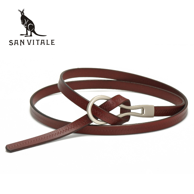 2017 New Designer Ladies <font><b>Belts</b></font> Women's Strap Cow Genuine Leather Casual Female Waistband for Skirts Dress students pure color image