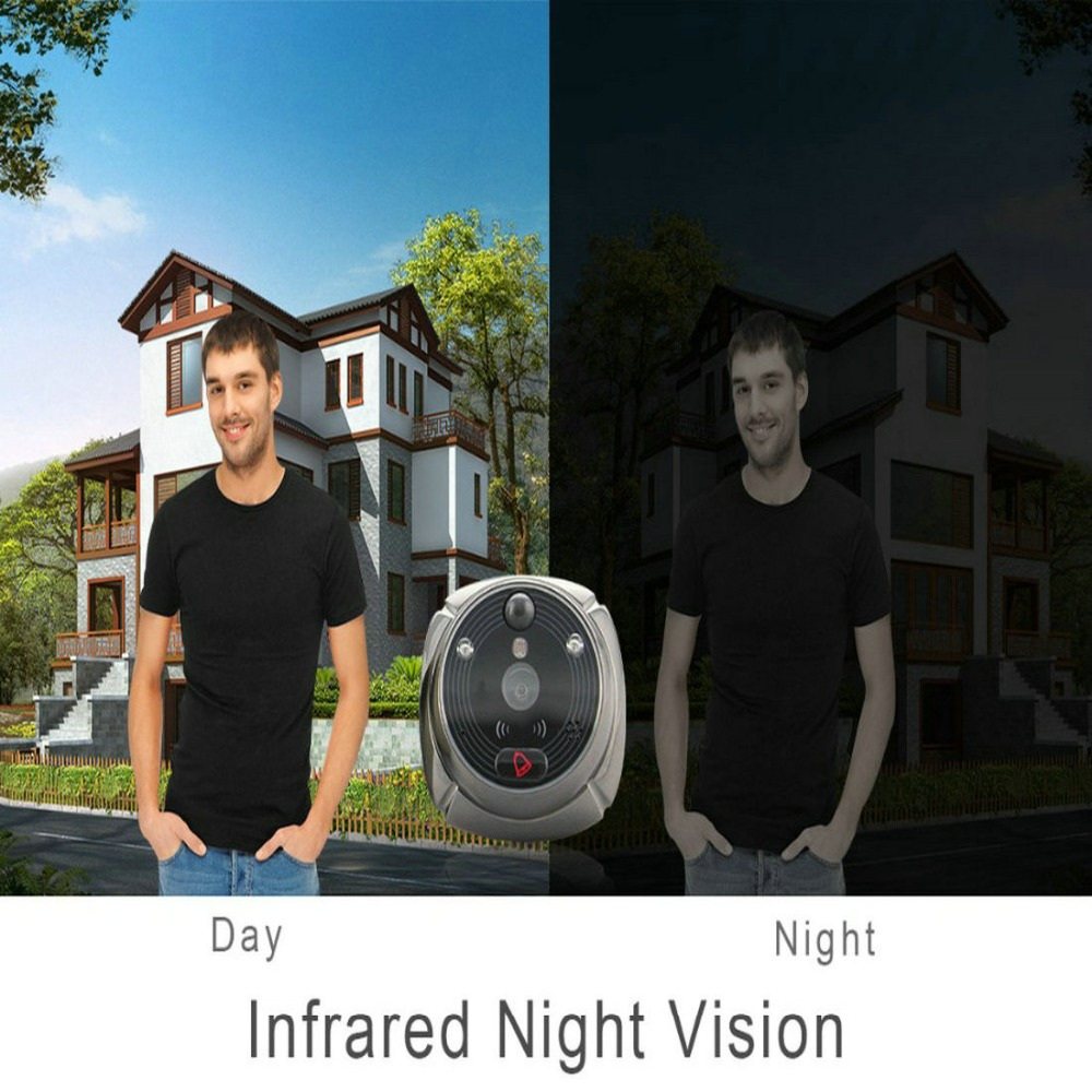 Купить с кэшбэком BONLOR(1 Set) The Newest Wifi/Wireless Peephole Doorbell with Camera Door Viewer 7'' LCD Display+Movement Detect+IR Night Vision