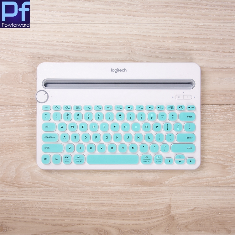 For Logitech K480  Bluetooth Multi-Device Keyboard Silicone Dustproof Wireless Desktop Keyboard Cover Protector  Dust Skin Film
