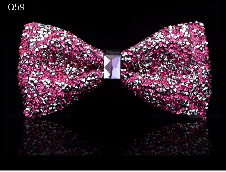 New bow tie crystal bling butterfly knot for men wedding banquet feast club party bridegroom shinning 9