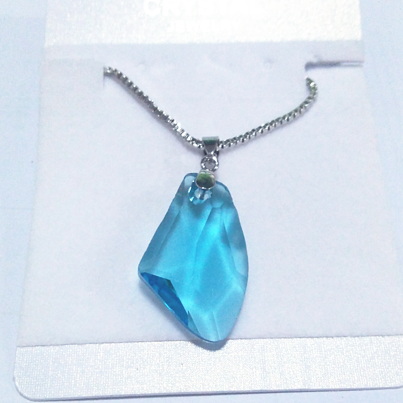 Axhape Wishing stone Irregular crystal Pendant Necklace charm girl fashion jewelry top quality party lovers gift