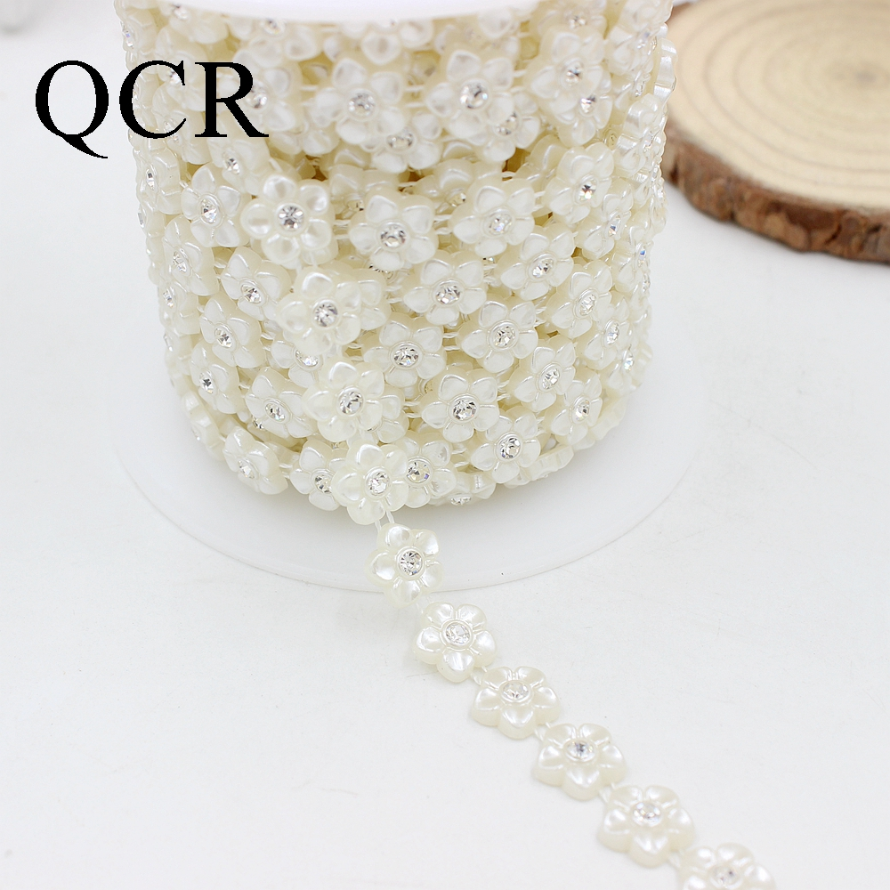 Free Shipping 1Yard Lot 10 14mm Crystal Rhinestone Cup Chain Pearl Base For  DIY Decoration Rhinestone Applique Sew on Garment-in Beads from Jewelry ... b2a434269b68