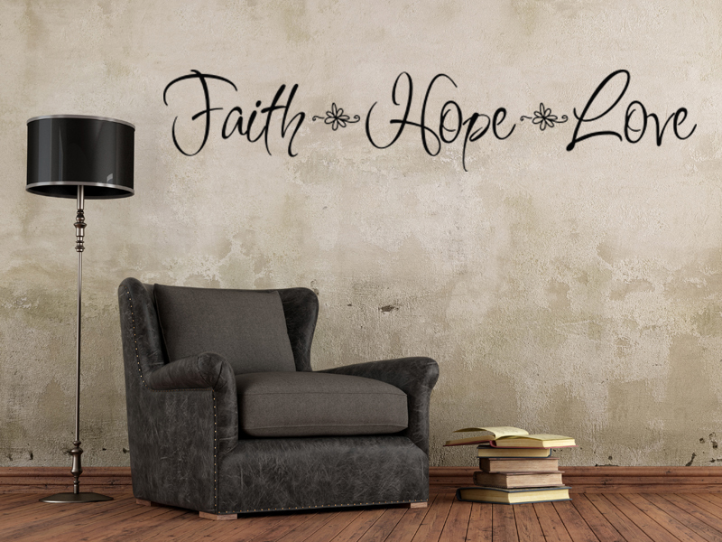 Wall Art Home Decor Love ~ Free shipping mix wholesale order faith hope love wall