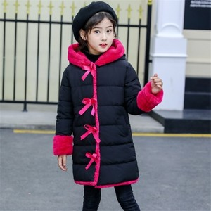 Image 5 - Blouson dhiver en fourrure Imitation pour filles, parka chaude, vêtements pour enfants, Plus velours, à la mode, nouvelle collection 2020