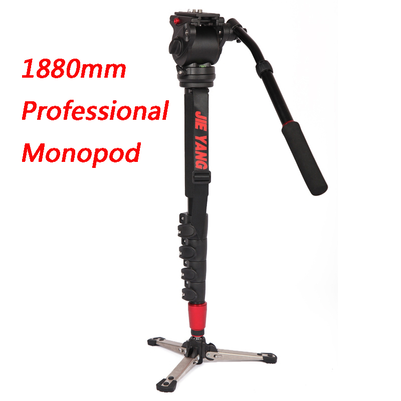 New PROGO JIEYANG JY0506B Professional aluminum Monopod For Video & Camera Tripod Head Carry Bag JY0506 Upgraded  height 1880mm new sys700 aluminum professional tripod