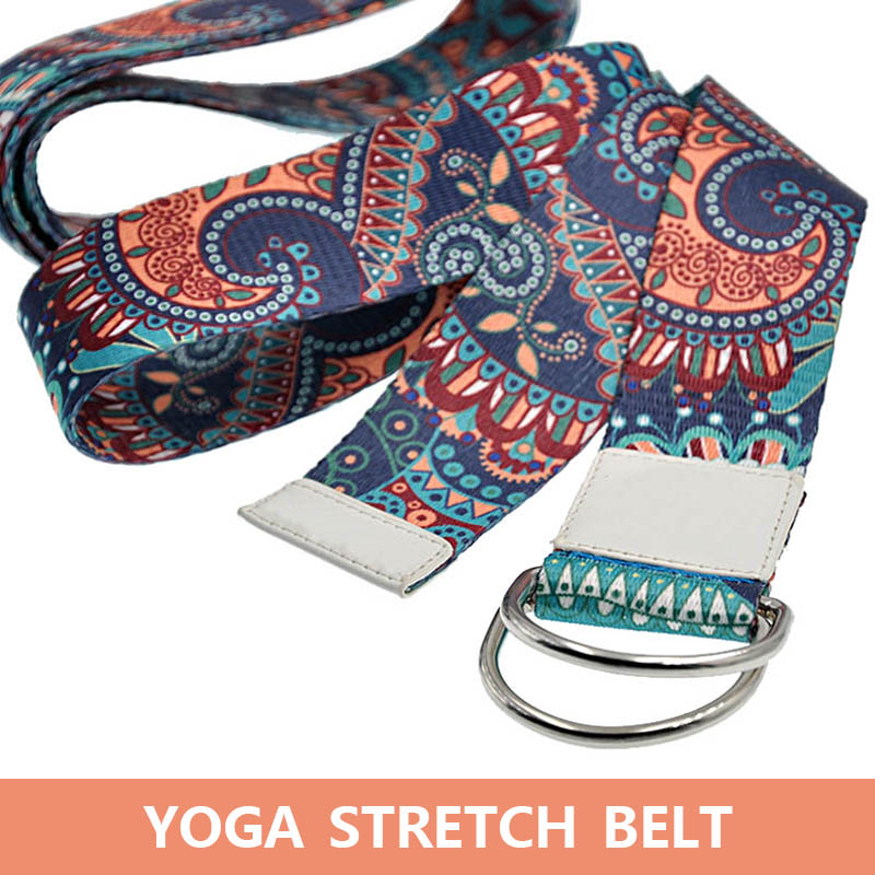 Hot Women Printed Pull Rope Resistance Strap Dance Training Tension Belt Stretching Pilates Yoga MCK99