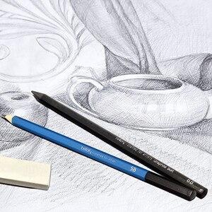 Image 5 - 40pcs Antislip Professionele Voor Kids Gift Schetsen Potloden Set Thuis Met Rits Tas Tekening Art Supplies Beginner briefpapier