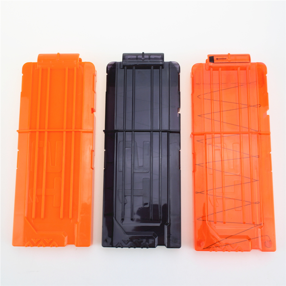 12 Reload Clip Magazines Round Darts Replacement Plastic Magazines Toy Gun Soft Bullet Clip Orange For Nerf N-Strike Elite