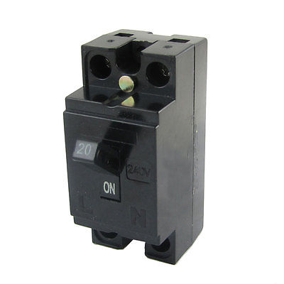 240V AC 20A 2 Pole 1 Element 2P1E Safety Breaker Switch MCB Mini Circuit Breaker модуль apc pd3p400at5b for t5 type circuit breaker 3 pole