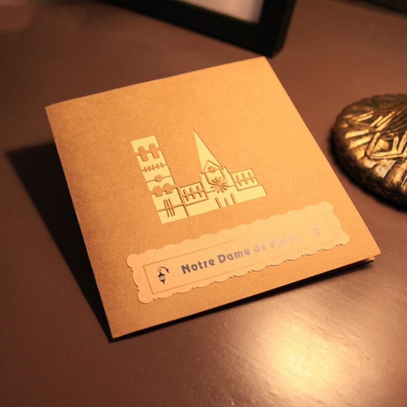 5 pieces/lot)Paper Art Model Diy Handmade Model Notre Dame de ...