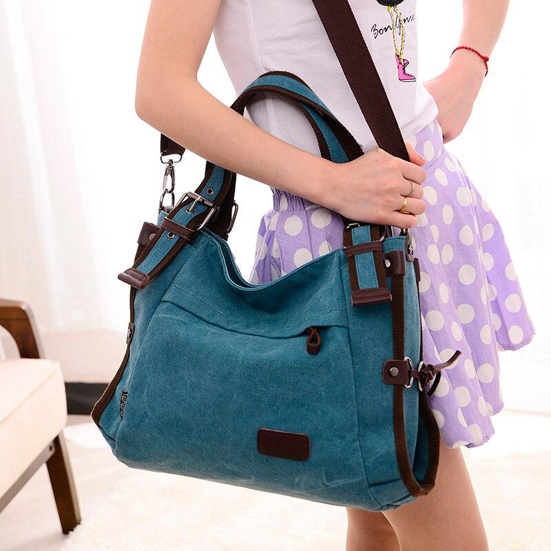 Women Handbag Canvas Shoulder Bags Appliques Portable Bag Large Capacity Lady Shopping Casual Totes bolsa feminina de marca famo