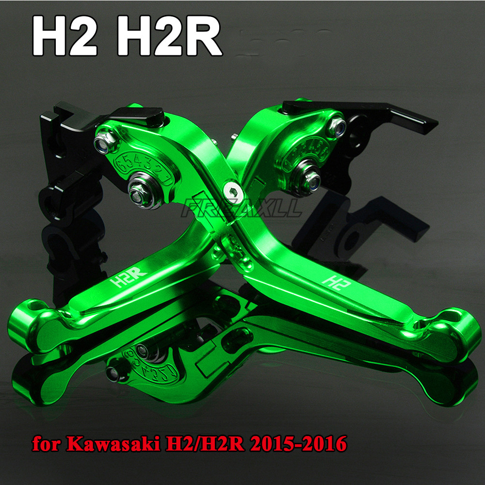 For Kawasaki H2 H2R 2015 2016 Aluminum Motorbike Levers Motorcycle Brake Clutch Levers Foldable Extendable Adjustable in Levers Ropes Cables from Automobiles Motorcycles