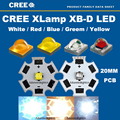 Freeshipping!10pcs X Cree XBD XB-D 1-3W LED Emitter Chip Warm White 3000-3200K; Cold White 6300-6500K; Red 620NM with 20MM PCB