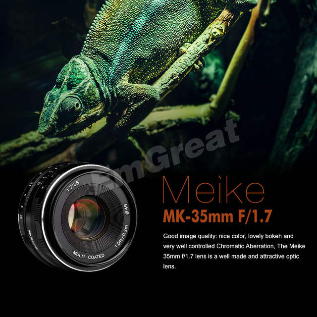 Meike MK-35-1 7 35mm F1 7 Manual Focus Lens APS-C for Canon or for Sony or  for Fuji or for 4/3 Mount Mirrorless Cameras