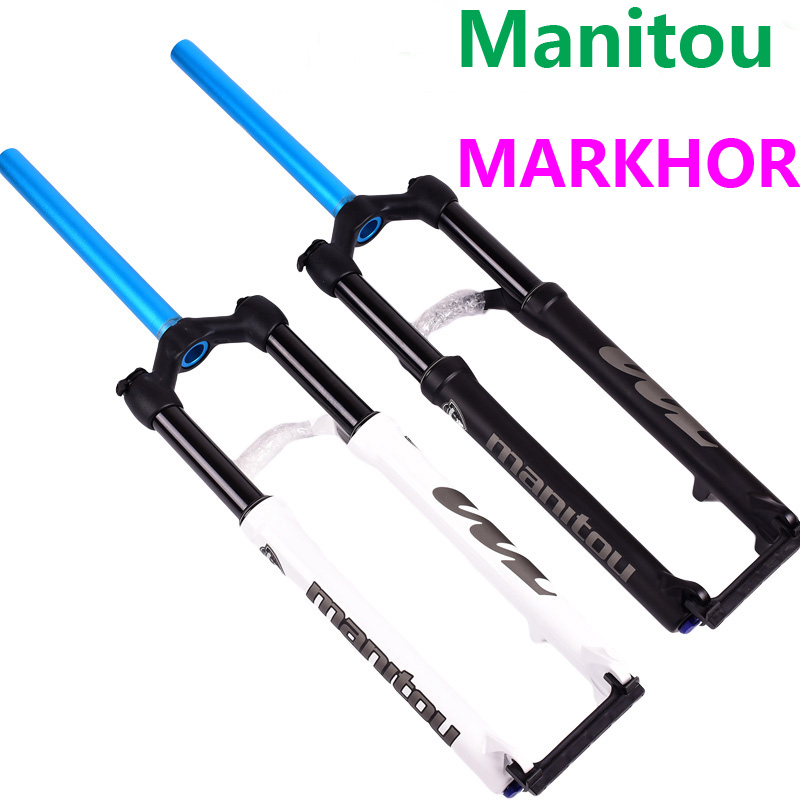 Manitou MARKHOR Bike Fork 26 27.5 29er mountain MTB Bicycle Fork air marvel Pro Front Fork suspension hot selling 2018 magnesium aluminum alloy bicycle front fork mountain bike front shock 26 27 5bicycle suspension fork disc brakes mtb fork