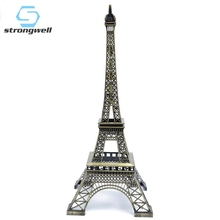 Strongwell European Crafts Paris Tower Model Small Gift Building Office Decoration Home Wrought Iron Ornaments Retro