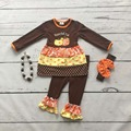 baby girls Thanksgiving clothing girls happy fall y'all clothes baby girls brown thanksgiving boutique outfits with accessories