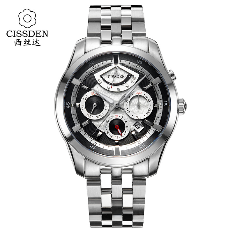 CISSDEN Luxury brand font b Men s b font mechanical font b watches b font 100M