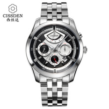 CISSDEN Luxury brand Men's mechanical watches 100M waterproof Genuine Automatic Switzerland Movement personality Men Wrist watch