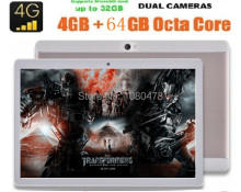 2017 Nueva 10 pulgadas 4G Android 6.0 tablet PC Octa core 1280*800 IPS HD de 8.0MP 4 GB 64 GB dual sim Bluetooth GPS tableta 10 10.1 + Regalos