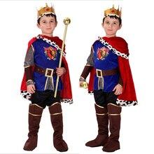 Disfraz de Príncipe para niños, Cosplay de Halloween, disfraces de El Rey, fantasía de Navidad para niños, ropa de realeza europea