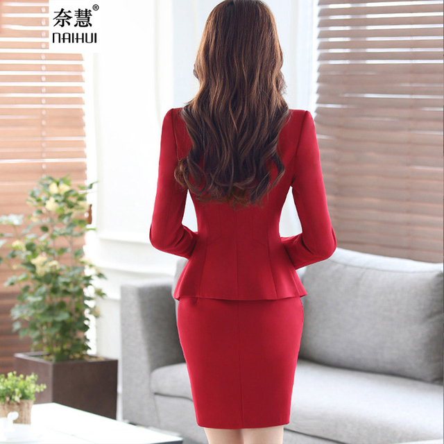 Womens Business Suits Formal Office Uniform style pant Suits New 2016 Fall Spring Women Work wear Female Blazer pant sets 4XL