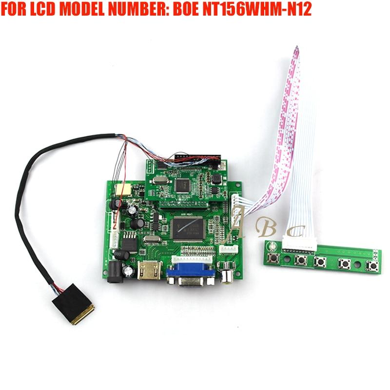 EDP HDMI VGA 2AV LVDS Controller Board Module Kit for BOE NT156WHM N12 15 6 1366X768