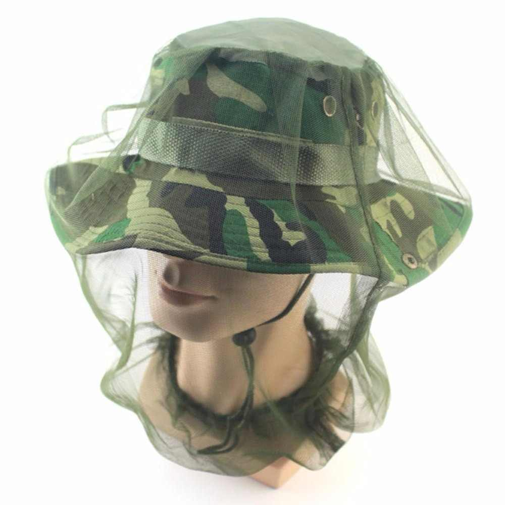 LumiParty Lightweight Breathable Mosquito Mask Hat Fly Bee Mosquito Cap Net  Face Protector for Outdoor Hiking cf9a1f05ba02