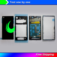 New Full housing For Sony Xperia Z1 L39H C6902 C6903 with Side Buttons Replacement Parts For SONY Z1 L39H Full Housing