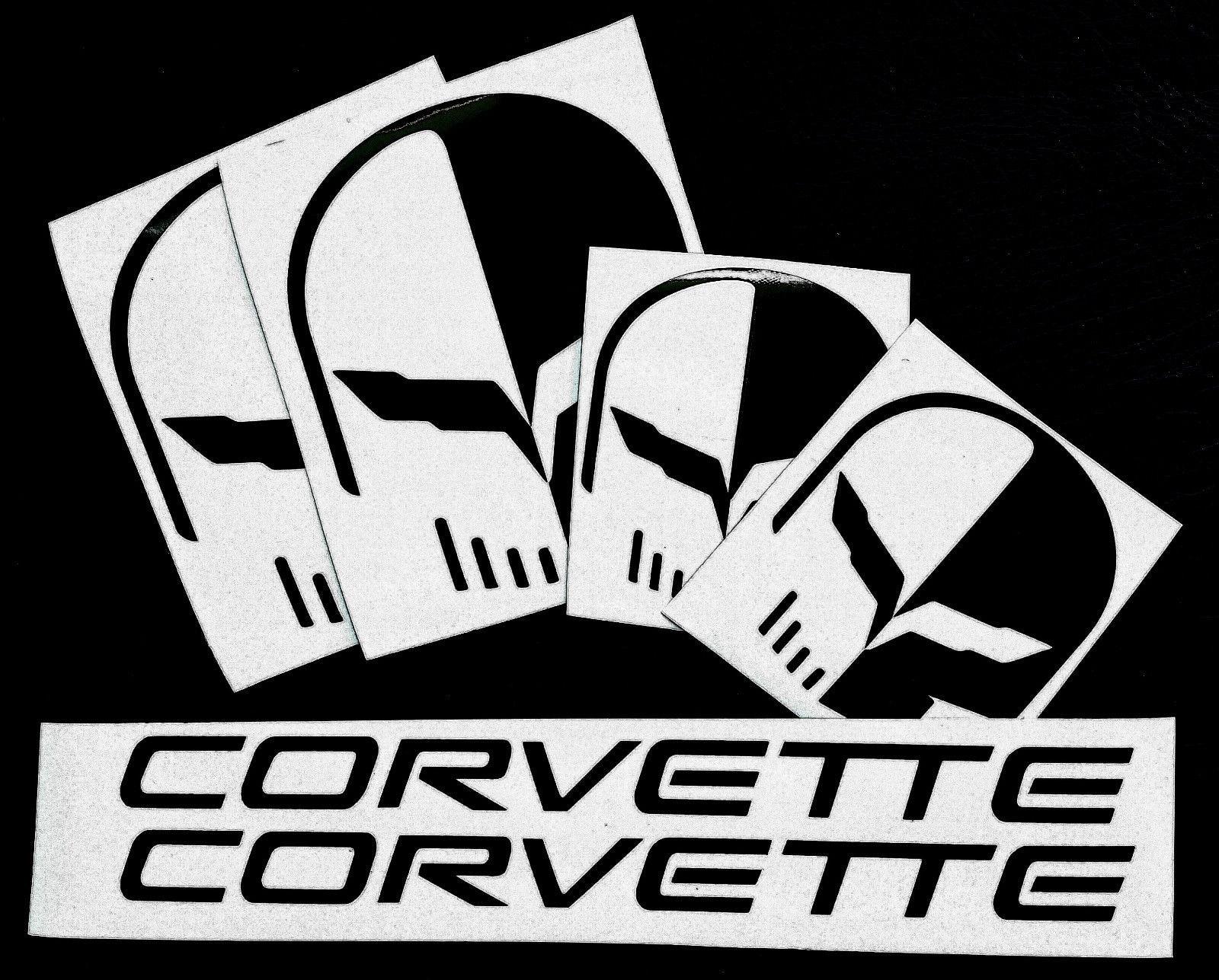 Set of 6 JAKE C7 Corvette Racing VINYL Decals  BUY 2 GET 1 SET FREE