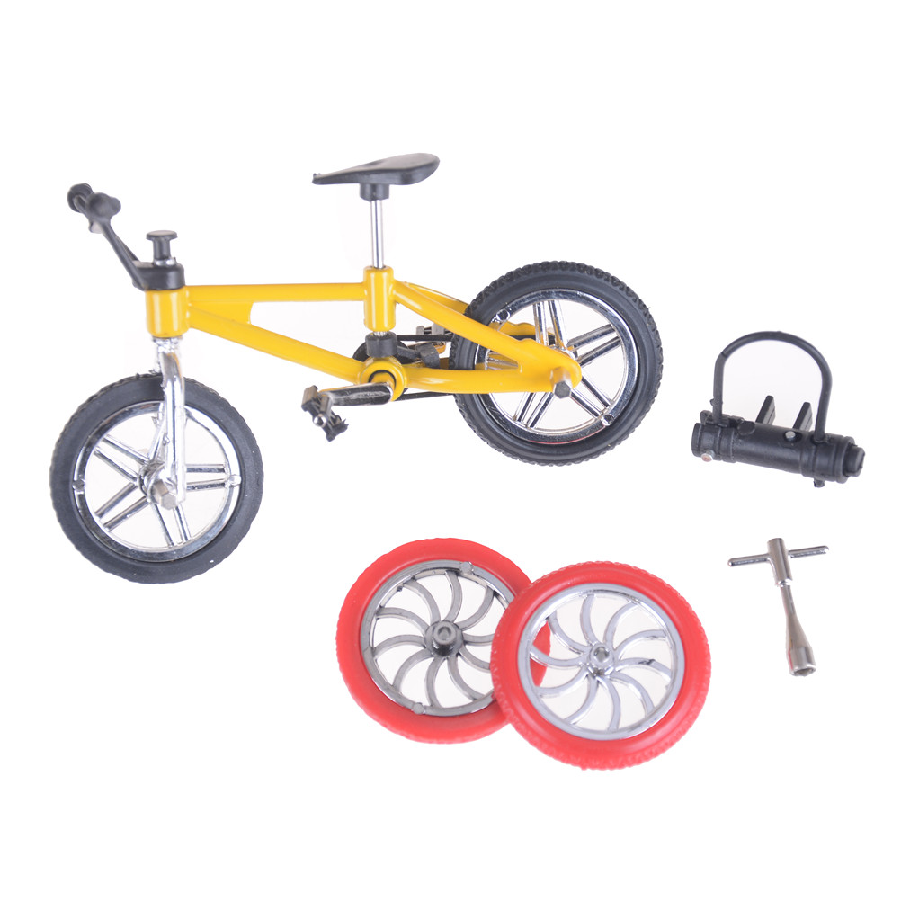 Ocday Simulation Alloy Finger Bmx Bikes Children Mini Size Green Mainan Anak Tech Deck Skateboard Board Bicycle Flick Trix Toys Gadgets Novelty Gag For Kids Gifts Model Bike In Skateboards From
