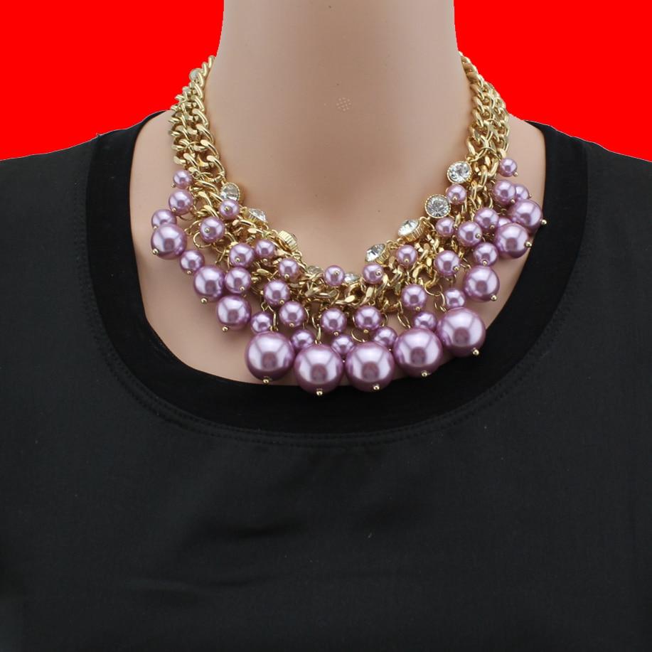 [$4 Minimum]2017 Luxury Women's Faux Pearls Necklace 16