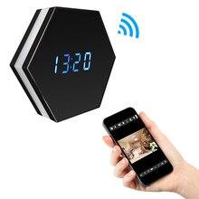 SOONHUA стильный Wi Fi охранных Будильник камера с красочными огнями поддерживает петли Запись Ночь Версия 1080 P видеокамера