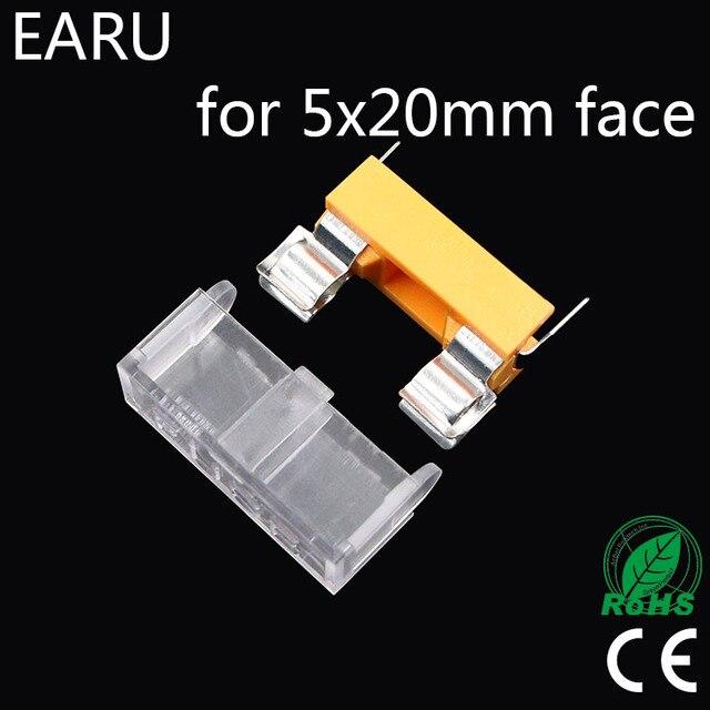 10pcs Panel Mount PCB for 5*20mm Glass Tube Fuse Holder Case Cover 5x20mm Casing Mount Base Car Auto Motorcycle Mini Socket Plug