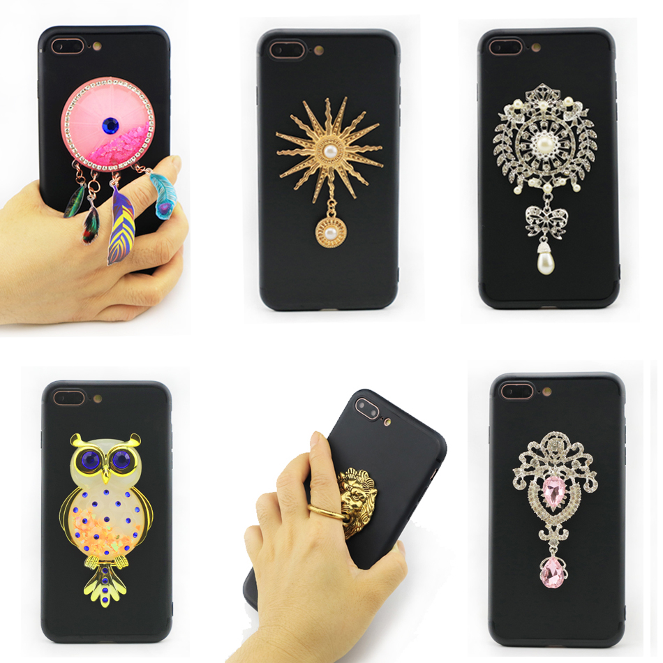 For Asus Zenfone Selfie ZD551KL Phone Ring Case 3D Unicorn Owl Quicksand Liquid Soft Silicon Case Diamond Chain Fur Ball Cover