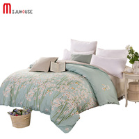 New 100% Cotton Duvet Cover Printed Colored Plaid Quilt Case For Bed Twin Full King Queen Size Wide brimmed Zipper Flower Plants